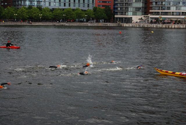 British Gas Swim - a leading pack