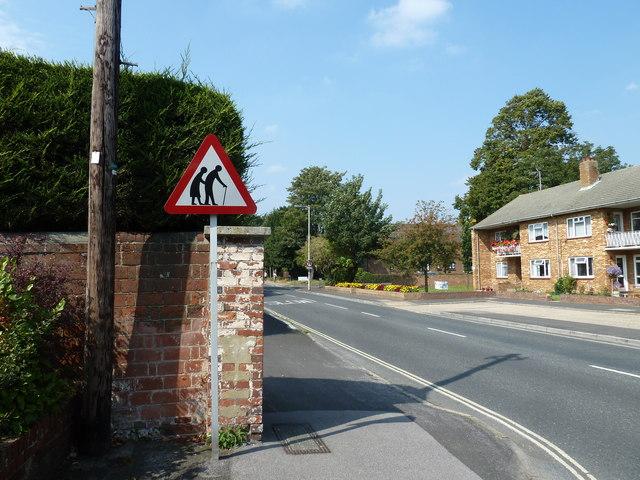 Road sign opposite Bernard Powell House