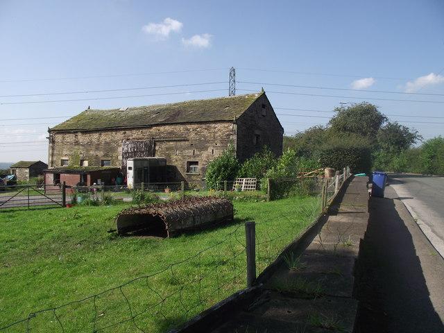Farm machinery and barn