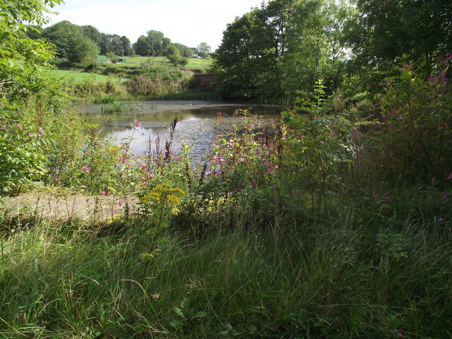 Fishing pond on Ainsworth Hall Road