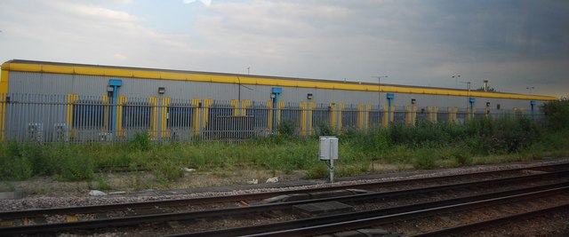Industrial unit by the railway line, Wimbledon