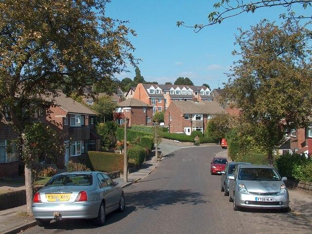 Looking down Pleasant Road towards Little Lane, Intake, Sheffield
