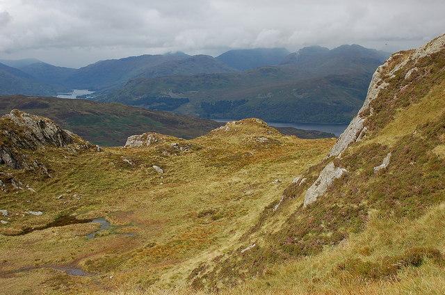 Loch Katrine from the ridge of Ben Venue
