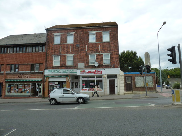 Looking across Portsmouth Road towards Bridge Television