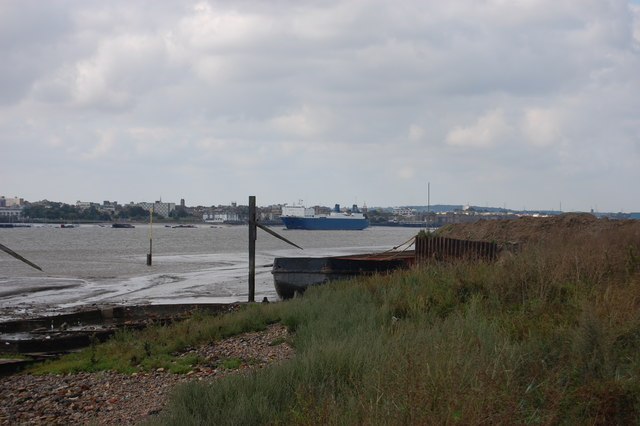 Moored Barge