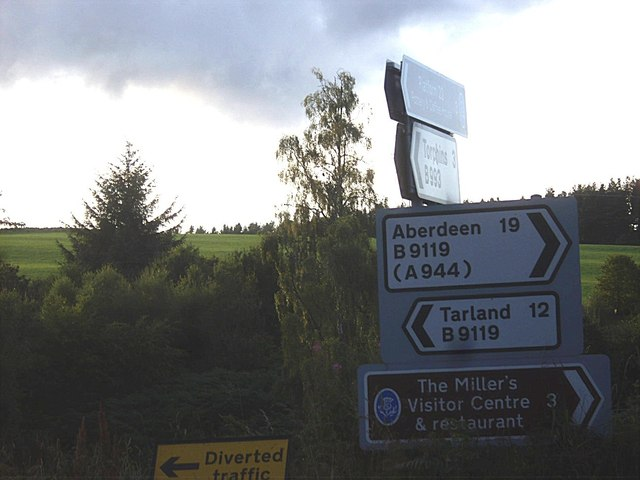 Road sign at B993/B9119 junction