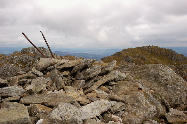 Cairn on the true summit of Ben Venue