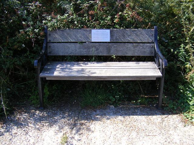 Commemorative Seat in Palmers Lane