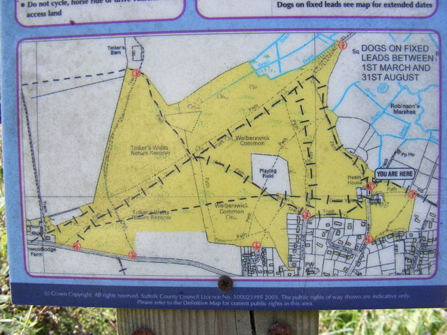 Open Access Map in Palmers Lane