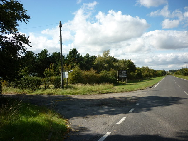 The A1084 at Low Farm, Fonaby