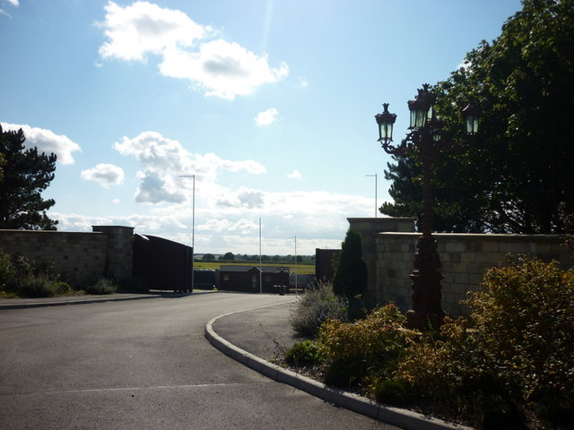 The entrance to Wold Retreat, north of Caistor