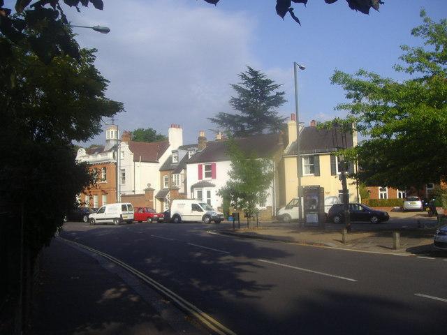 High Street Hampton at junction of Church Street