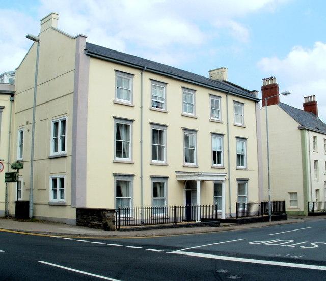 Grade II listed former police headquarters, Lower Monk Street, Abergavenny