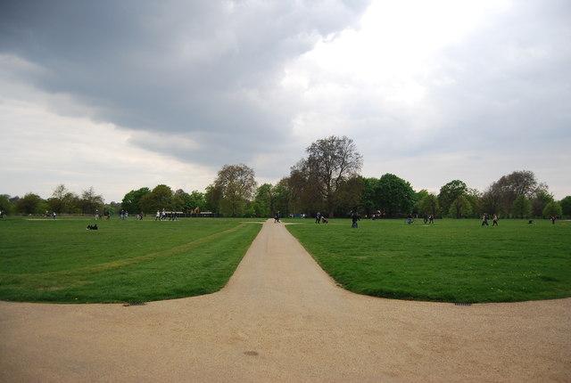 Path across Hyde Park