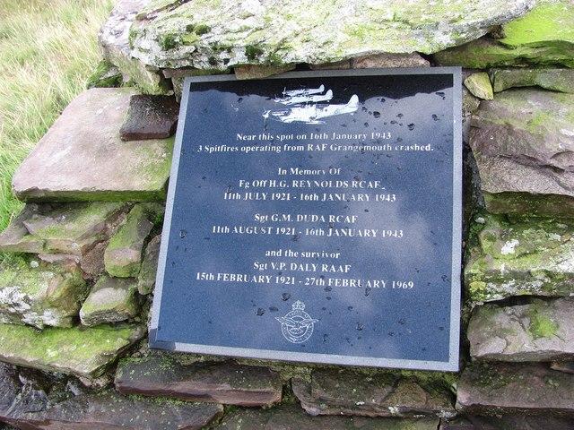 Spitfire memorial, Banks of Dollar