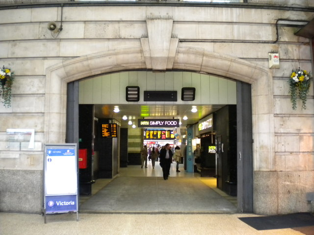 Entrance to London Victoria Station, Terminus Place SW1