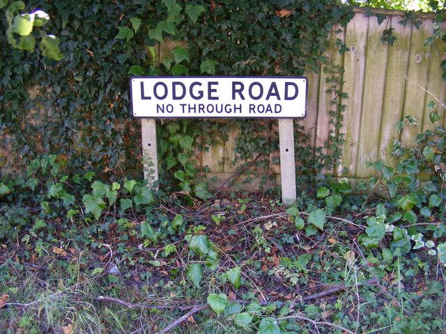 Lodge Road sign