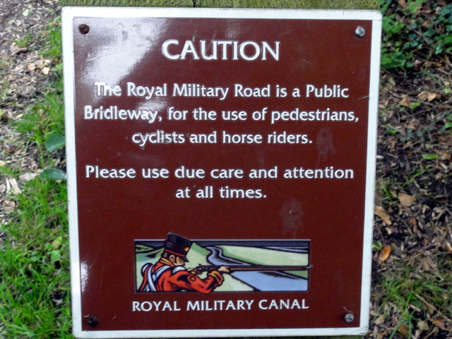 Hythe, Royal Military Road Sign