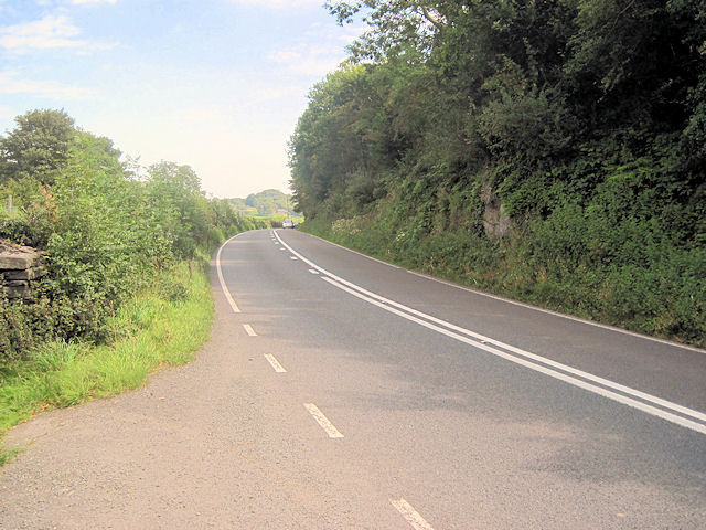 A487 from layby at Morben Hall