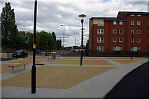 SP0483 : The 'piazza' between Grange Road and Selly Oak New Road by Phil Champion