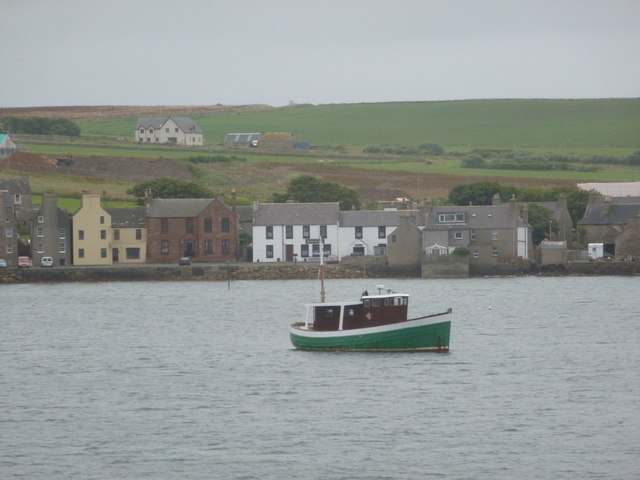 St. Margaret's Hope: view from the incoming ferry