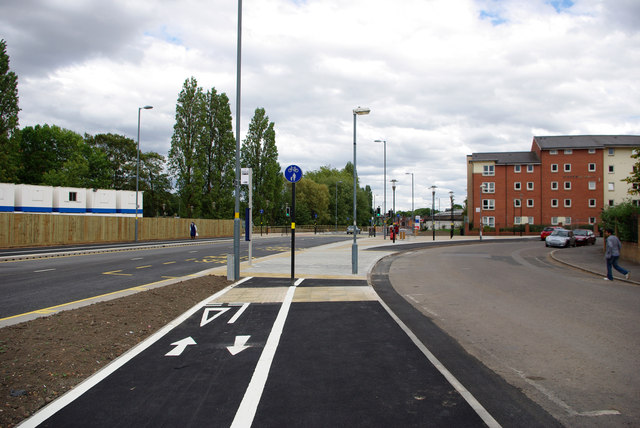 Shared use path alongside Aston Webb Boulevard and Dale Road
