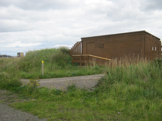 Bird watching hide in Teesmouth