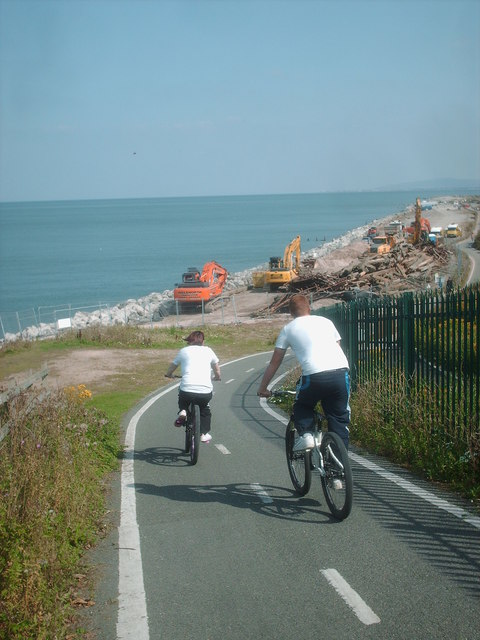 Hurtling cyclists