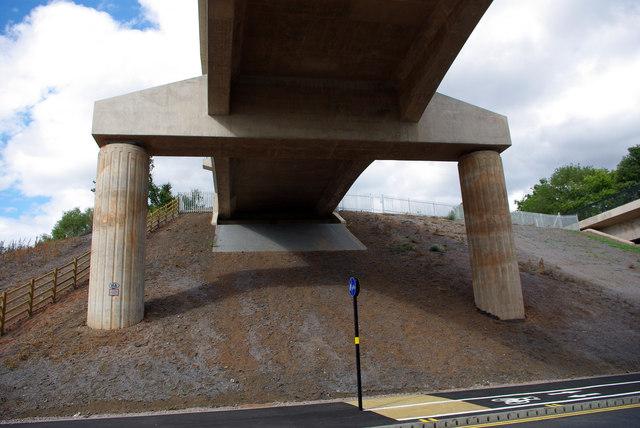 Underneath the railway bridge - Selly Oak New Road, Phase 2