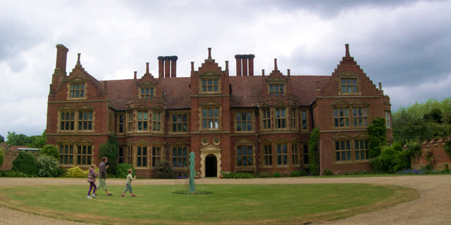 Haughley Hall, with glass sculpture