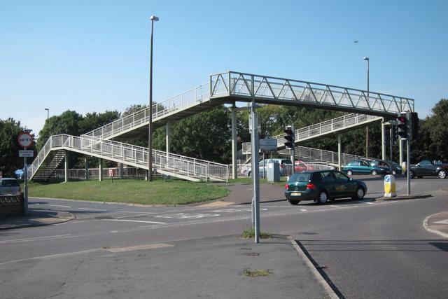 Footbridge over Upper Shoreham Road