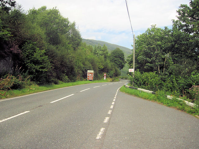 Approaching Corris from Machynlleth