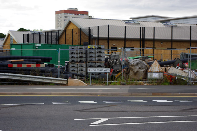 Compound near the Queen Elizabeth Roundabout, Selly Oak New Road scheme