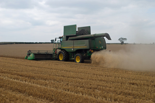 Combining near North Wold Farm