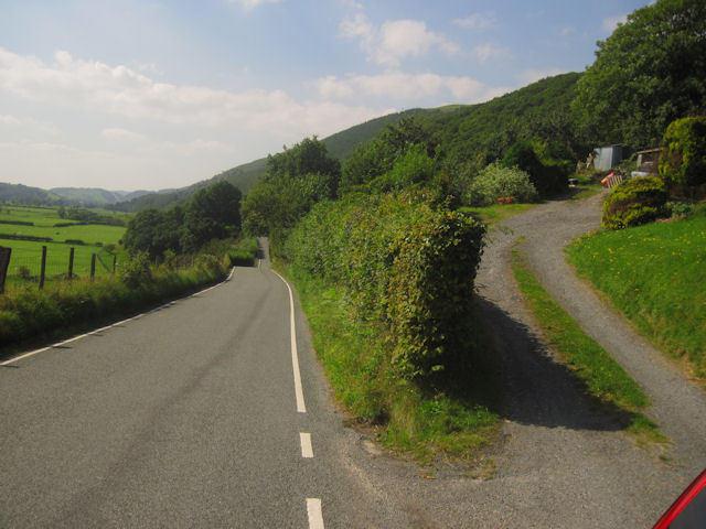 Entrance to Abernant and the B4404 road
