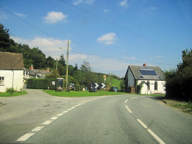 Llanwrin village centre