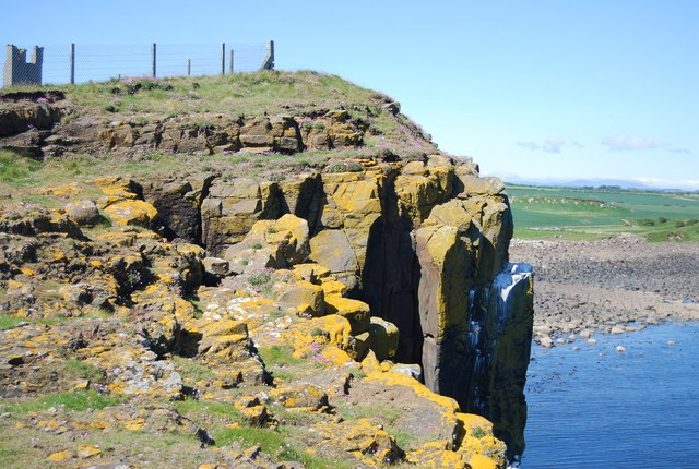 Cliff below Dunstanburgh Castle
