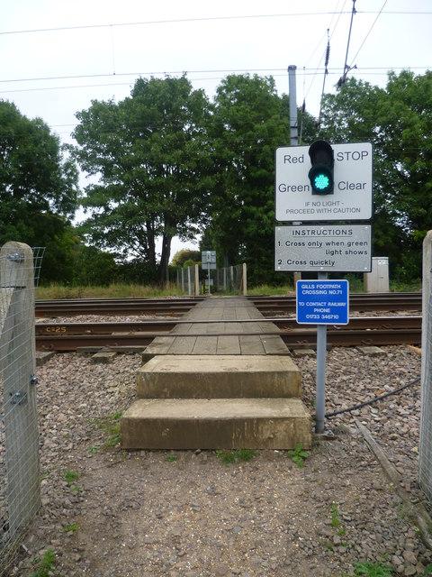 Foot crossing over East Coast Main Line