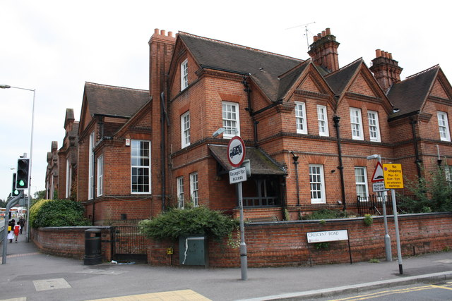 School house at junction of Wokingham Road and Crescent Road