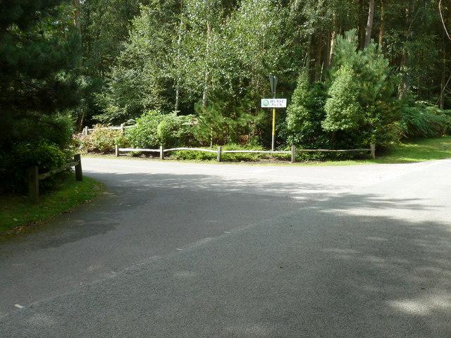 Sign for Hurst Park private housing estate