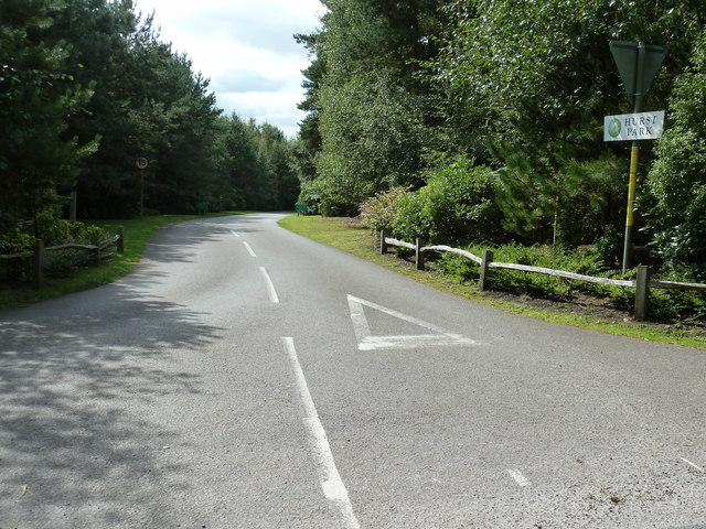 Private drive to Hurst Park housing