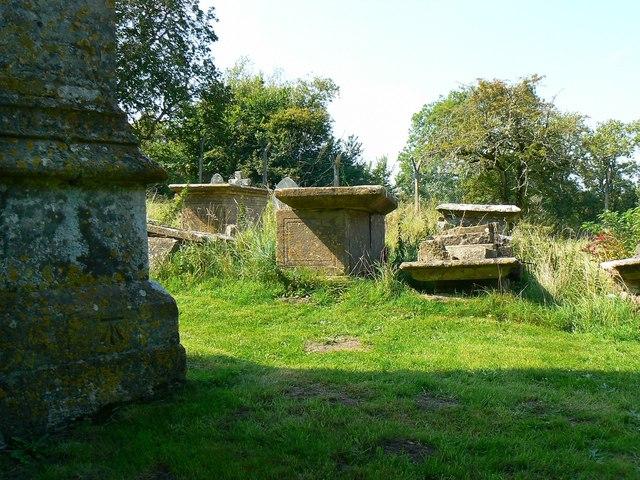 Churchyard and tower, St Giles' Church, Imber