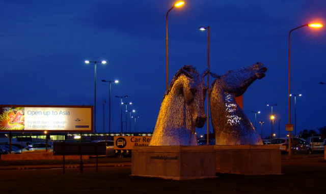 The Kelpies at Edinburgh Airport