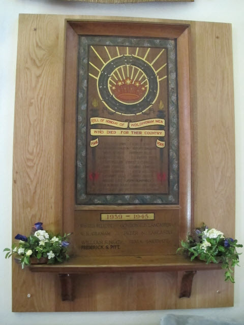 St Paul's church, Woldingham: war memorial