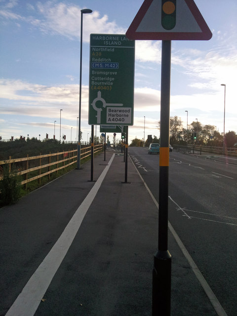Shared use path alongside Aston Webb Boulevard (Selly Oak New Road, Phase 1)