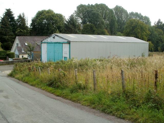 Corrugated metal building, Nantgavenny Lane, Mardy