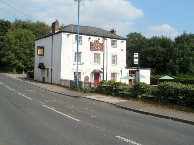 New Inn, Mardy, viewed from the south