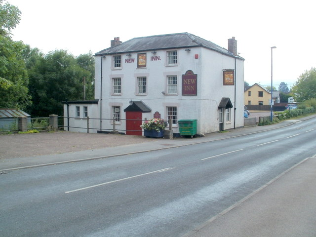 New Inn, Mardy, viewed from the north