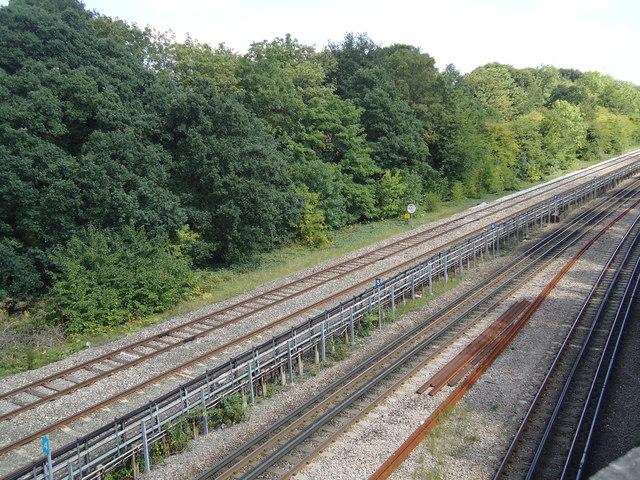 Railway lines at Hanger Lane