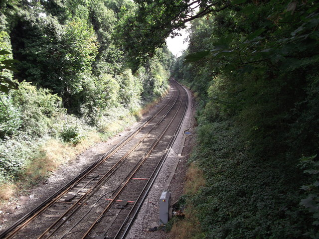 Railway line to Hayes